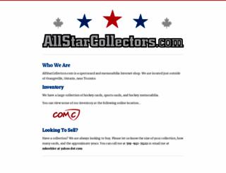 allstarcollectors.com screenshot