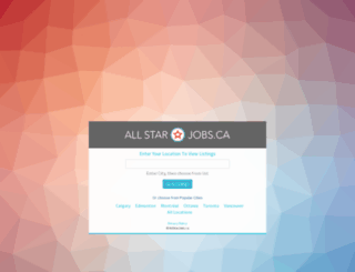 allstarjobs.ca screenshot