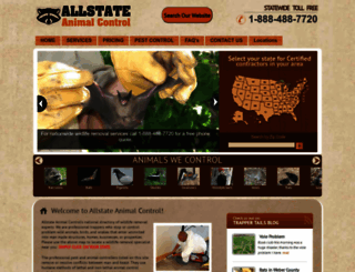 allstateanimalcontrol.com screenshot