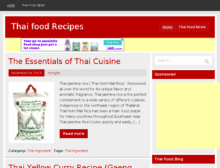 allthaifood.com screenshot