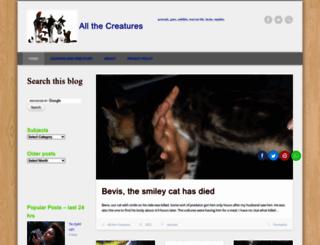 allthecreatures.org screenshot