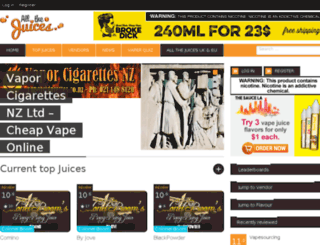 allthejuices.com screenshot