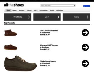 alltheshoes.co.uk screenshot