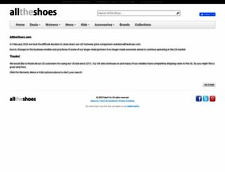 alltheshoes.com screenshot