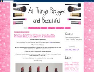 allthingsbloggedandbeautiful.blogspot.com screenshot