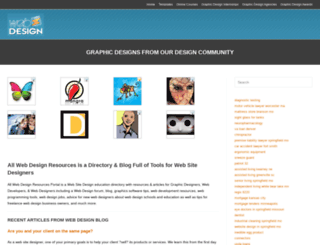 allwebdesignresources.com screenshot