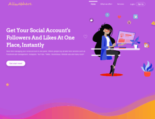 allwebhere.com screenshot