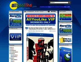 allyoulike.com screenshot