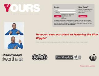allyours.com.au screenshot