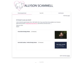 allysonscammellcoaching.acuityscheduling.com screenshot