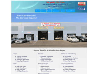almadenautorepair.com screenshot