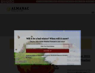 almanac.com screenshot