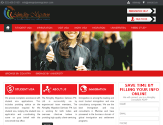 almightyimmigration.com screenshot