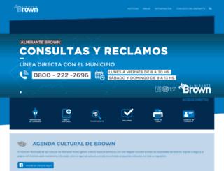 almirantebrown.gov.ar screenshot