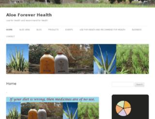 aloeforeverhealth.com screenshot