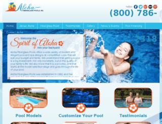 alohafiberglasspools.com screenshot