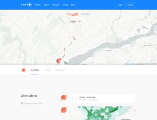 alonabra.cartodb.com screenshot
