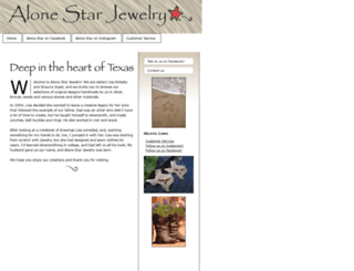 alonestarjewelry.com screenshot