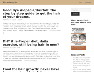 alopecia.org.in screenshot