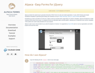 alpacajs.org screenshot