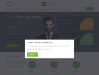 alpari-forex.com screenshot