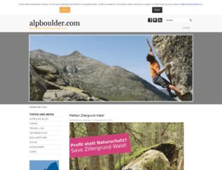alpboulder.com screenshot
