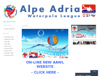 alpeadriawaterpololeague.wordpress.com screenshot