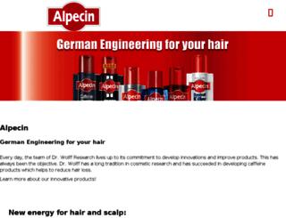 alpecin.co.uk screenshot