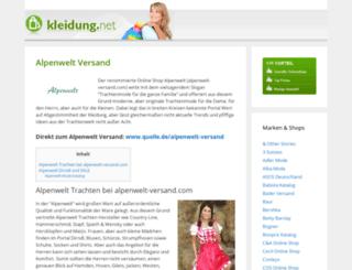 alpenwelt-versand.de screenshot