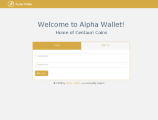 alpha-wallet.com screenshot