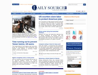 alpha.dailysource.org screenshot