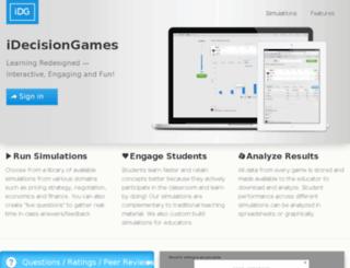alpha.idecisiongames.com screenshot