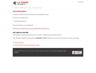 alpha2.latrobe.edu.au screenshot