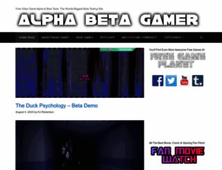 alphabetagamer.com screenshot
