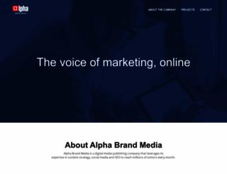 alphabrandmedia.com screenshot