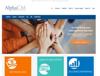 alphacm.net screenshot