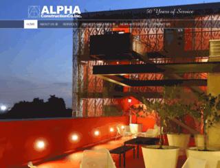 alphaconstruction.com screenshot