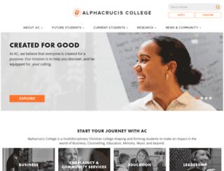 alphacrucis.edu.au screenshot