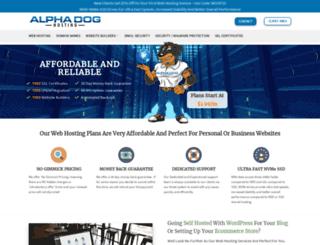 alphadoghosting.com screenshot