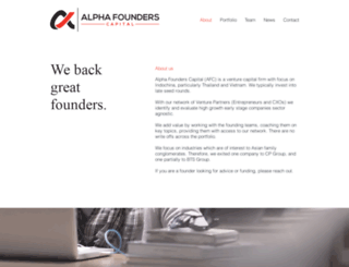 alphafounders.com screenshot
