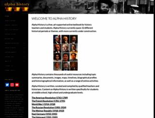 alphahistory.com screenshot