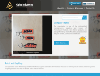 alphakeychains.com screenshot