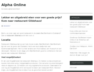 alphaonline.nl screenshot