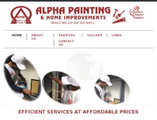 alphapaintingandhomeimprovements.com.au screenshot