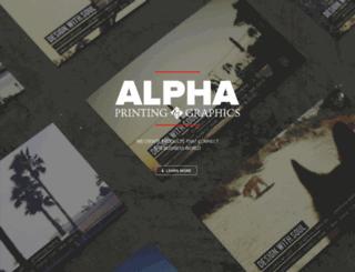 alphaprinting.com screenshot