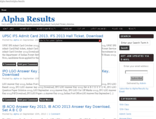 alpharesults.in screenshot