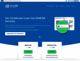 alphassl.com screenshot