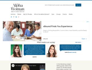 alphawomanthebook.com screenshot