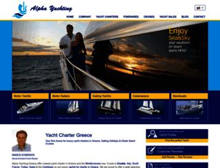 alphayachting.com screenshot