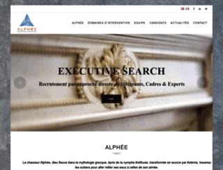 alphee-rh.com screenshot